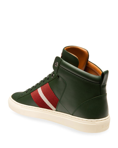 Bally Men's Hedern Trainspotting Leather High-Top Sneakers