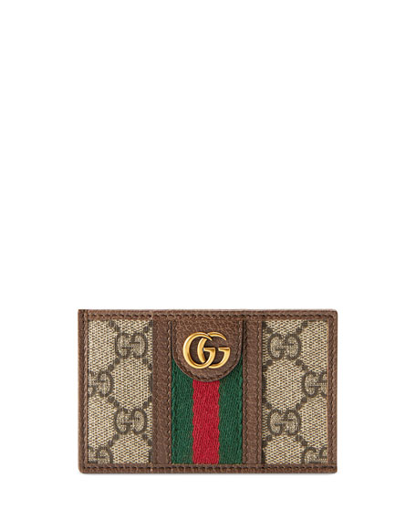 Gucci Wallets Men's GG Supreme Canvas Marmont Vertical Wallet