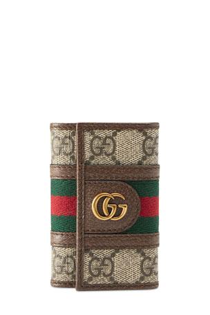 Gucci Men's GG Supreme Marmont Key Case