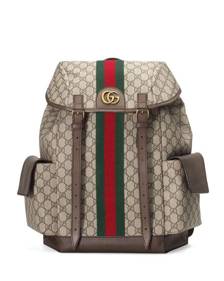 Gucci Backpacks Men's GG Supreme Medium Explorer Backpack