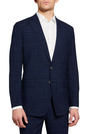 Peter Millar Men's Glenwood Check Two-Piece Suit