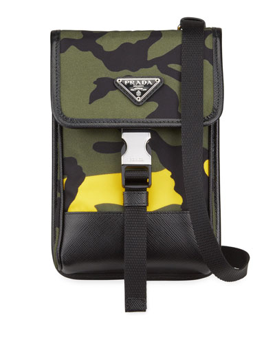 Men's Tessuto Camo Crossbody Phone Case
