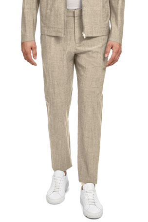 Theory Men's Zaine Delor Slim-Straight Suit Pants