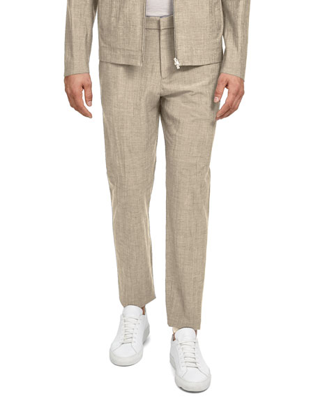 Image 1 of 2: Theory Men's Zaine Delor Slim-Straight Suit Pants
