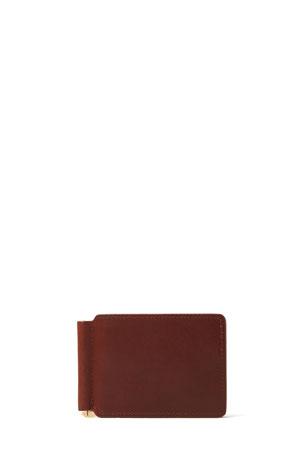 J.W. Hulme Men's Money Clip Leather Wallet
