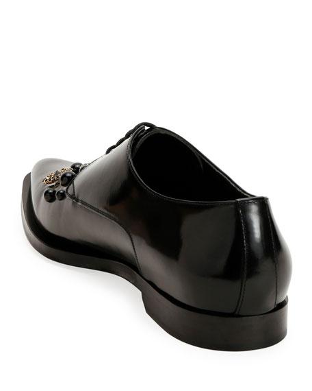 Dolce & Gabbana Men's DNA Embellished Point-Toe Derby Shoes