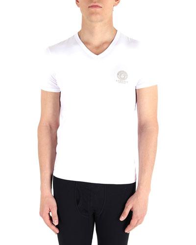 Men's Medusa Head V-Neck T-Shirt