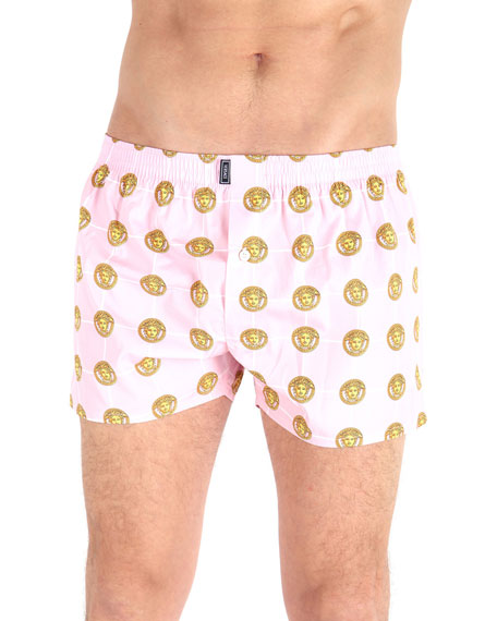 Versace Tops MEN'S MEDUSA-HEAD PRINT BOXERS