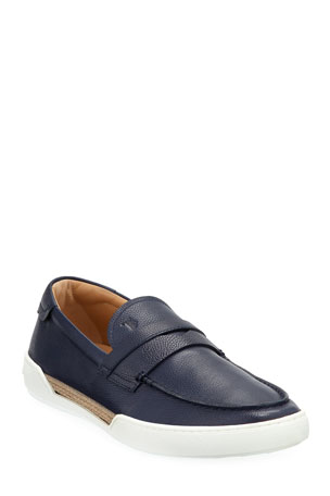 Tod's Men's Leather Espadrille Loafer Sneakers