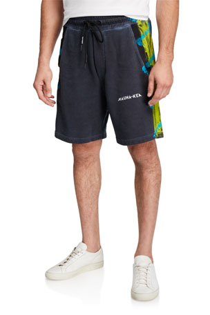 Mauna Kea Men's Painted-Trim Bermuda Shorts