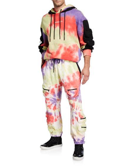 Mauna Kea Men's Spiral Tie-Dye Multi-Pocket Parachute Pants