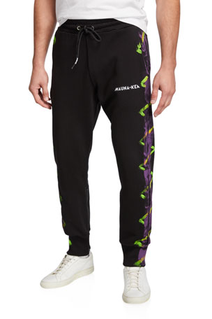 Mauna Kea Men's Painted-Trim Jogger Pants