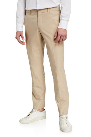 BOSS Men's Paper-Touch Slim-Fit Pants