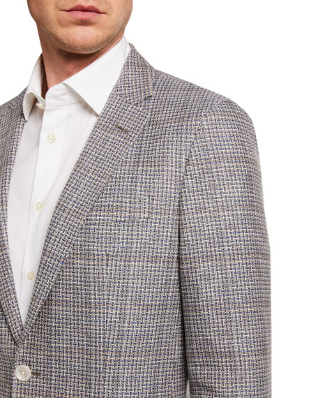 Image 3 of 3: BOSS Men's Microweave Two-Button Jacket