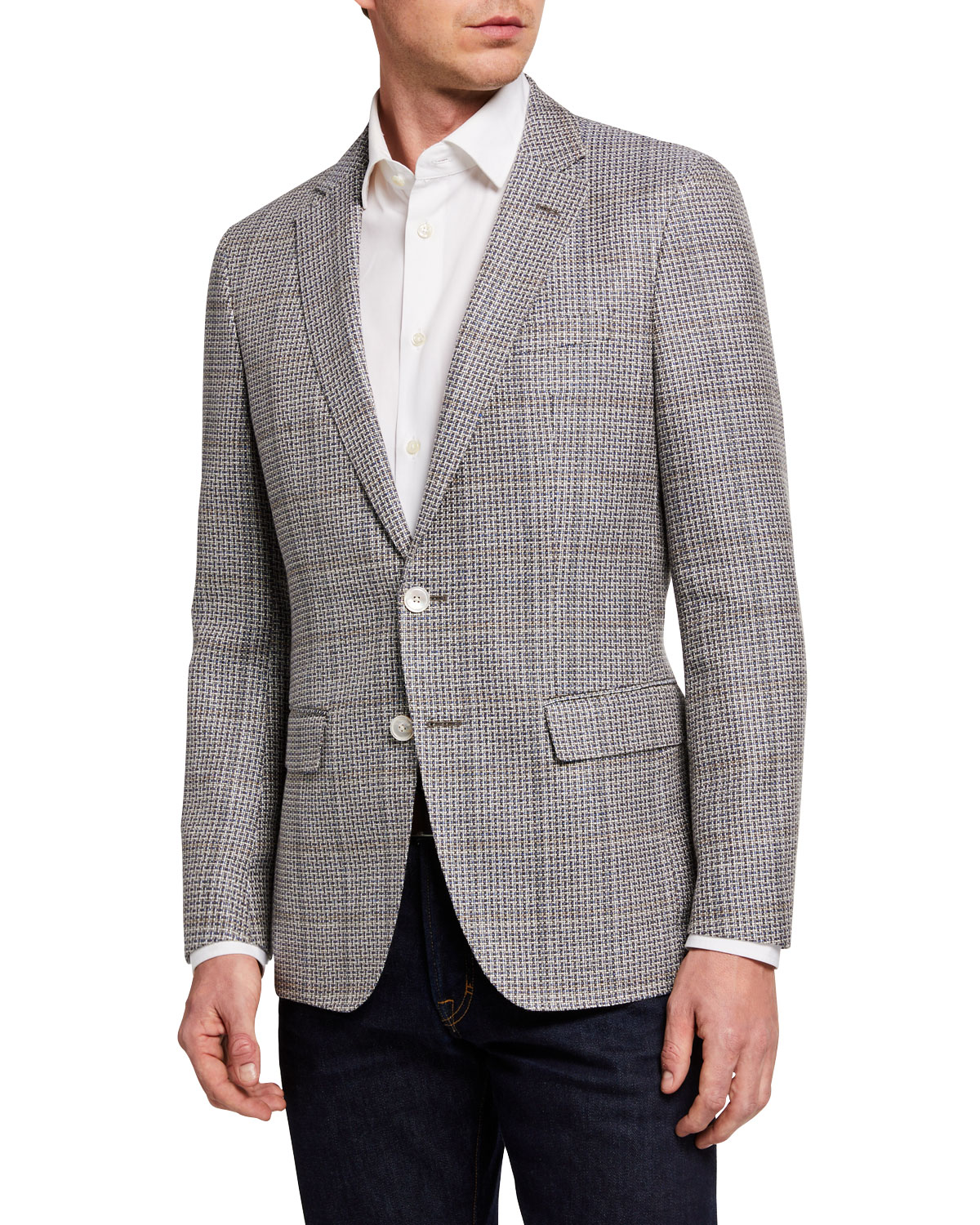 BOSS Men's Microweave Two-Button Jacket