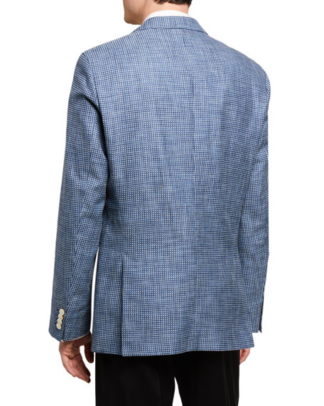 Image 2 of 3: BOSS Men's Micro-Pattern Two-Button Jacket