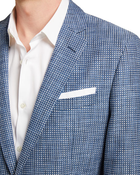 Image 3 of 3: BOSS Men's Micro-Pattern Two-Button Jacket