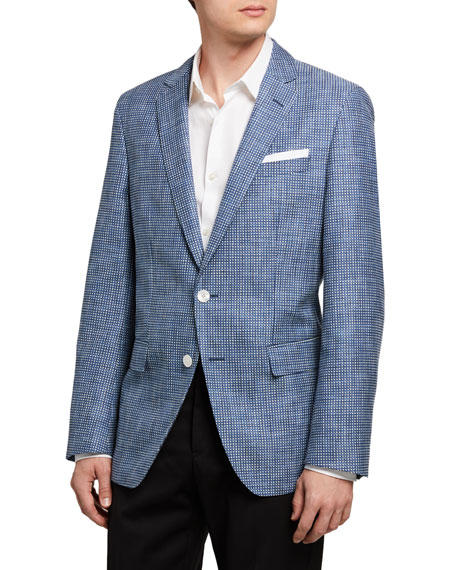 Image 1 of 3: BOSS Men's Micro-Pattern Two-Button Jacket