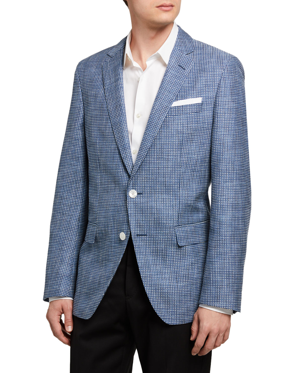 BOSS Men's Micro-Pattern Two-Button Jacket