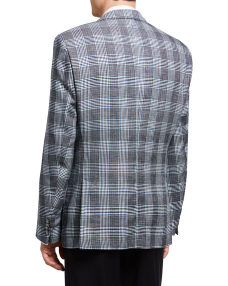 Image 2 of 3: BOSS Men's Glenn Plaid Two-Button Jacket