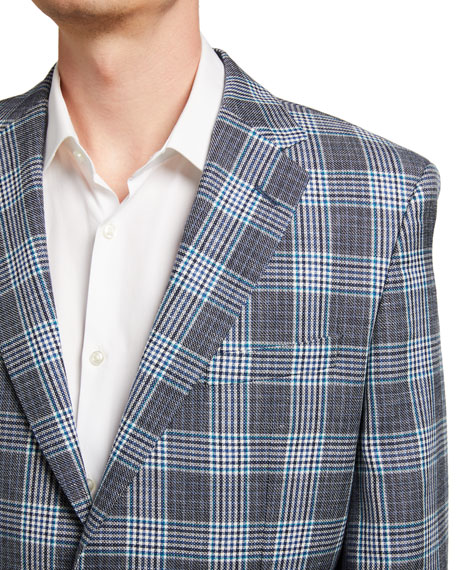 Image 3 of 3: BOSS Men's Glenn Plaid Two-Button Jacket