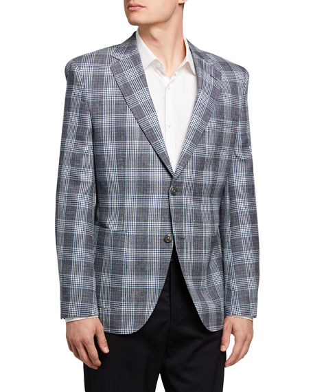 Image 1 of 3: BOSS Men's Glenn Plaid Two-Button Jacket