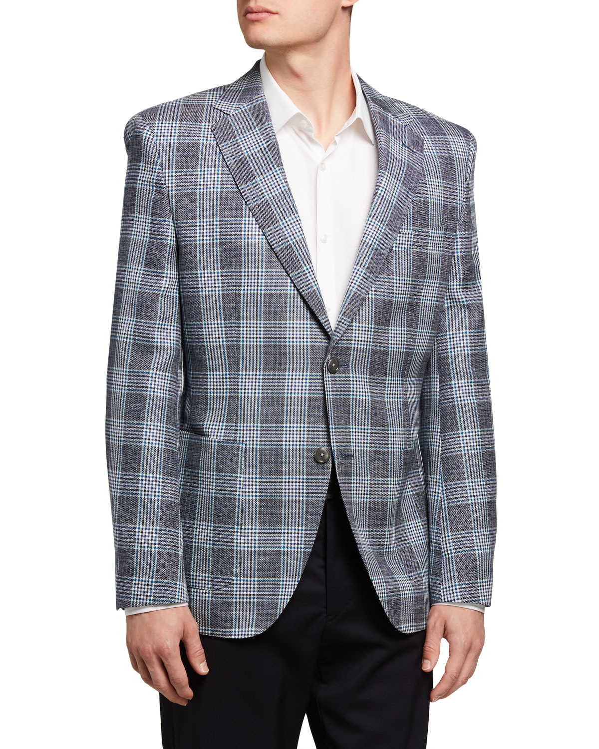 BOSS Men's Glenn Plaid Two-Button Jacket