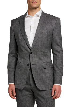 BOSS Men's Melange Slim-Fit Two-Piece Suit