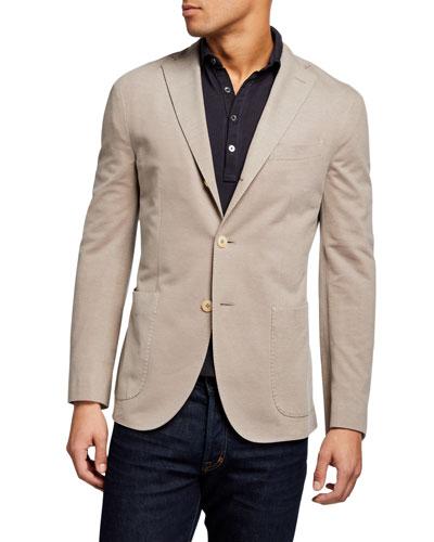Men's Solid Pique Knit Blazer