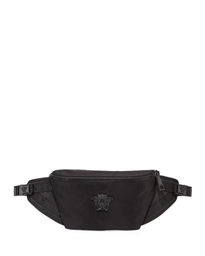 Men's Tonal Medusa Head Belt Bag