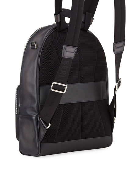 Berluti Men's Time off Venezia Solid Leather Backpack