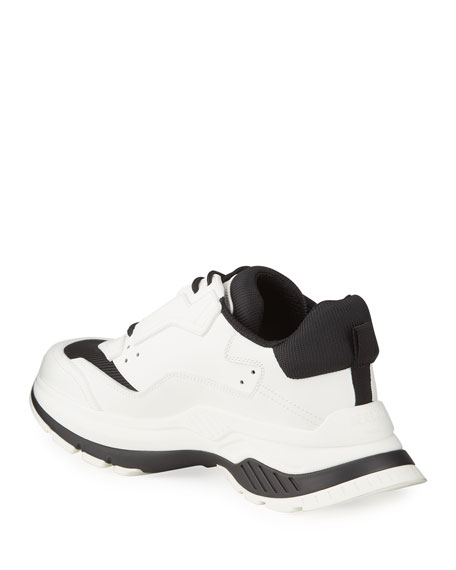 Berluti Men's Chunky Script-Print Leather Sneakers