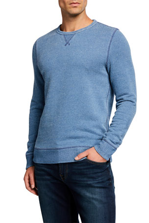 Faherty Men's Birdseye Crewneck Sweater