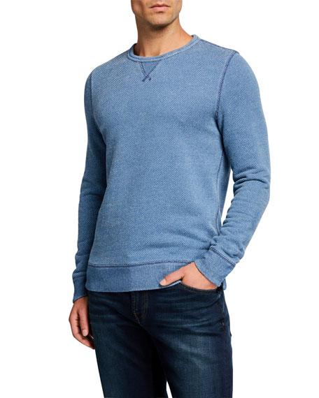 Faherty Men's Birdseye Crewneck Sweater