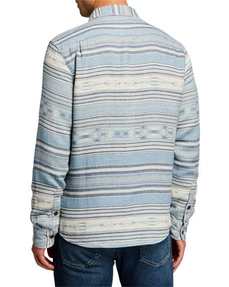 Faherty Men's Horizontal Stripe Dual-Pocket Shirt Jacket