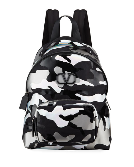 Valentino Men's Camouspace VLOGO Backpack