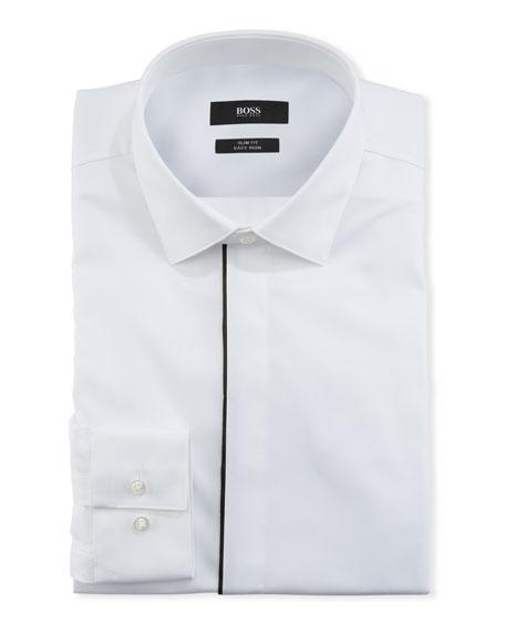BOSS Men's Contrast-Trim Evening Dress Shirt