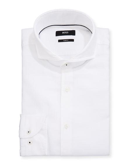 BOSS Men's Washed Poplin Slim-Fit Dress Shirt