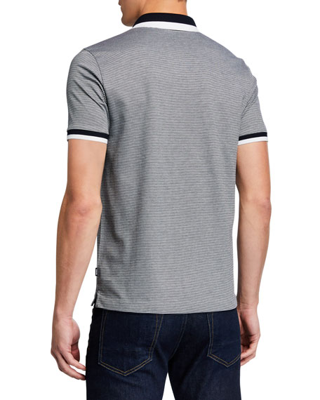 BOSS Men's Striped Polo Shirt