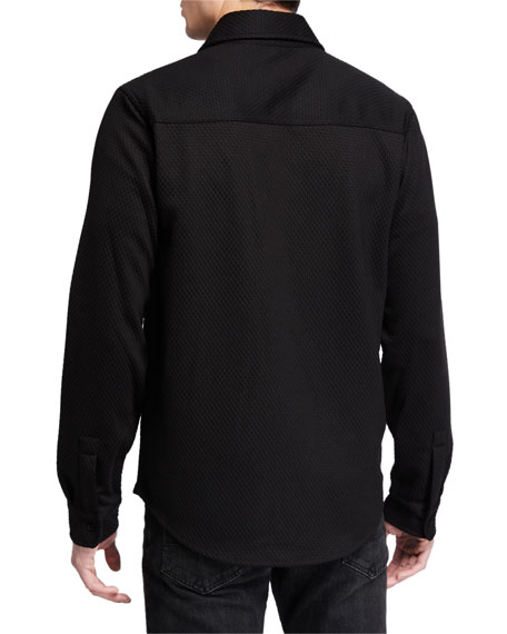 Karl Lagerfeld Men's Knit Shirt Jacket
