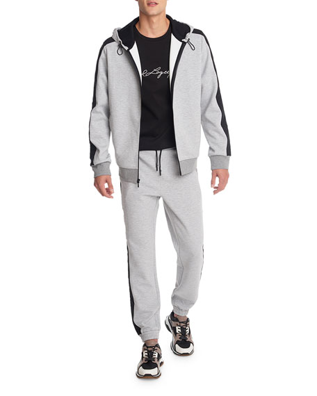 Karl Lagerfeld Men's Quilted-Insert Jogger Pants