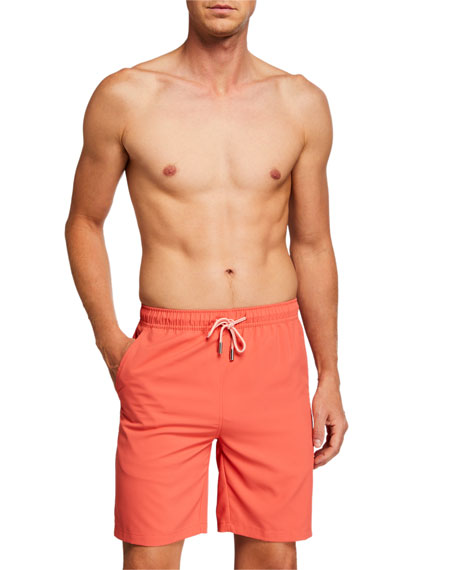 Peter Millar Men's Merky Waters Solid Swim Shorts