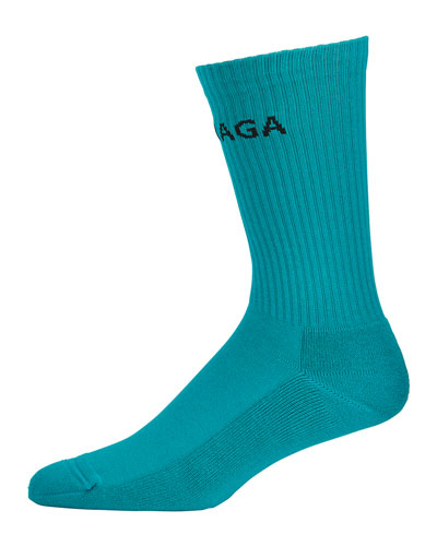 Men's Logo-Knit Tennis Socks