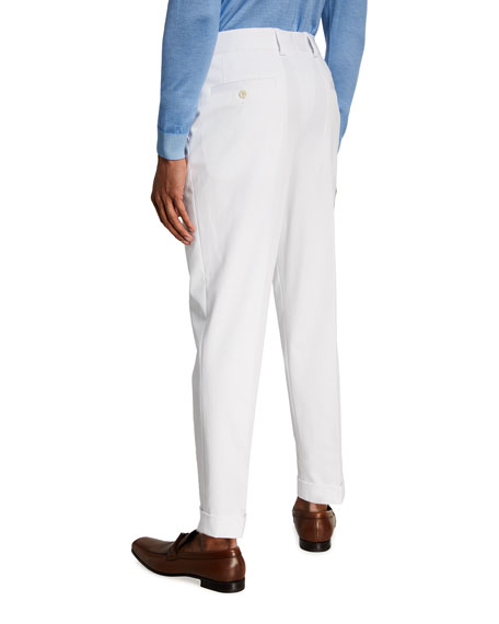 Image 2 of 3: BOSS Men's Perin Cropped Relaxed-Fit Suit Separate Trousers