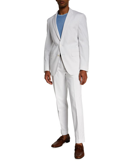 Image 3 of 3: BOSS Men's Perin Cropped Relaxed-Fit Suit Separate Trousers
