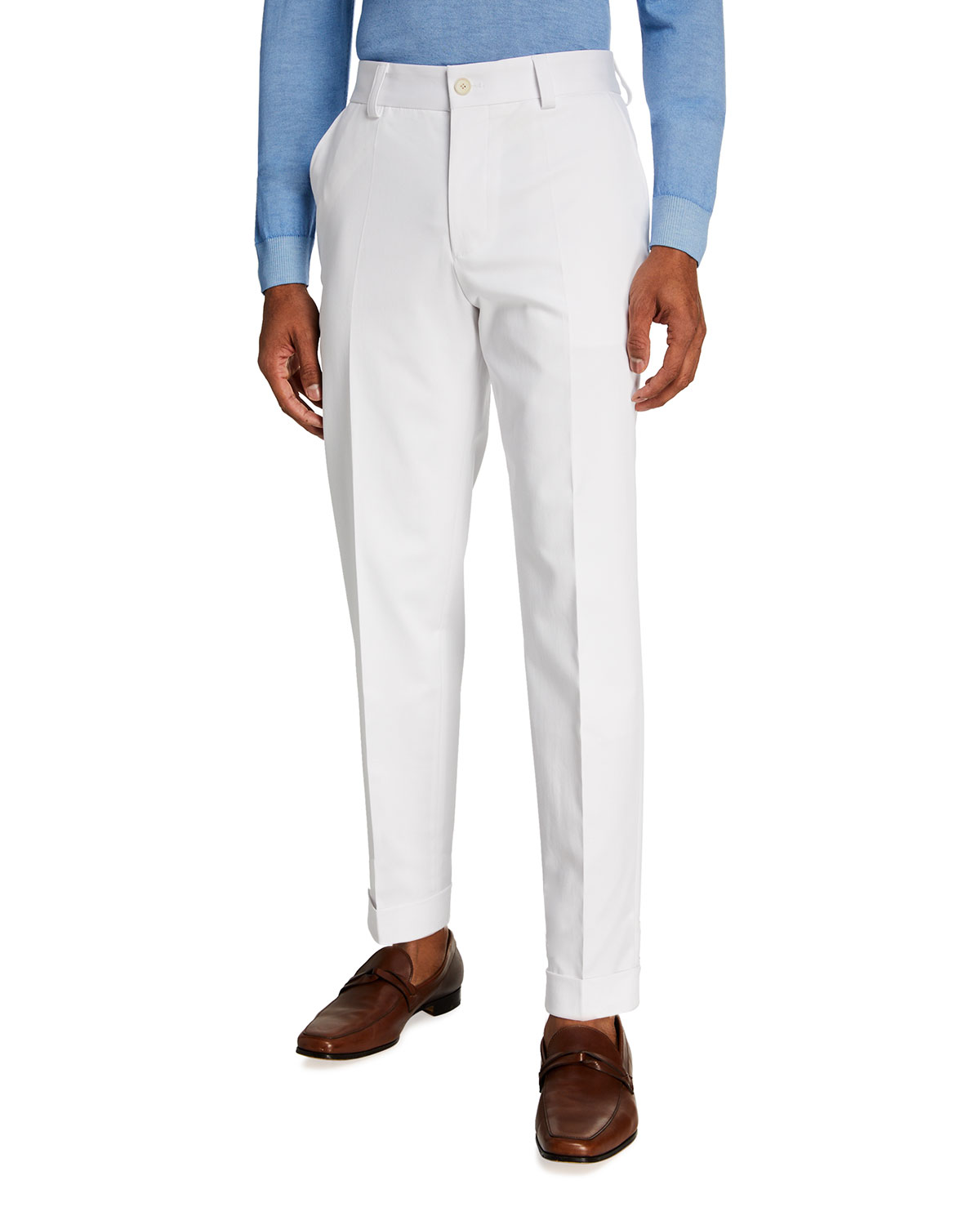 BOSS Men's Perin Cropped Relaxed-Fit Suit Separate Trousers
