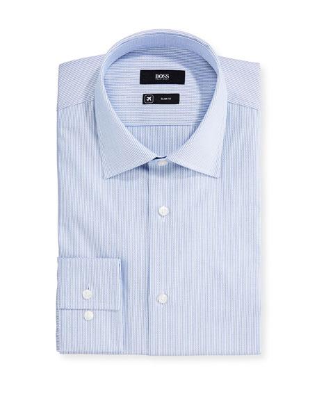 BOSS Men's Micro-Stripe Dress Shirt