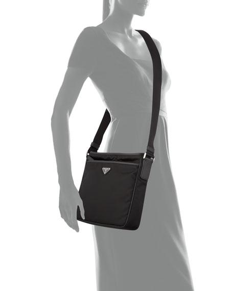 Prada Men's Bandoliera Nylon Logo Crossbody Bag