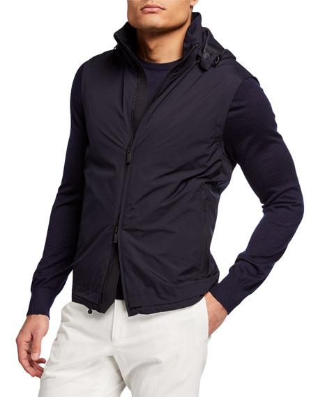 Z Zegna Men's Laminated Featherweight Vest
