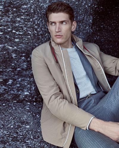 Men's Pinstripe Suit Jacket